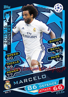 2016-17 - Topps UEFA Champions League Match Attax - N° RM4 - MARCELO (Real Madrid CF)