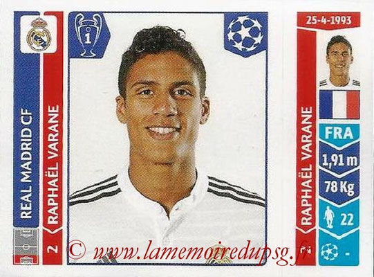 2014-15 - Panini Champions League N° 121 - Raphael VARANE (Real Madrid FC)