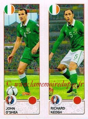 Panini Euro 2016 Stickers - N° 539 - John O'SHEA + Richard KEOGH (République d'Irlande)