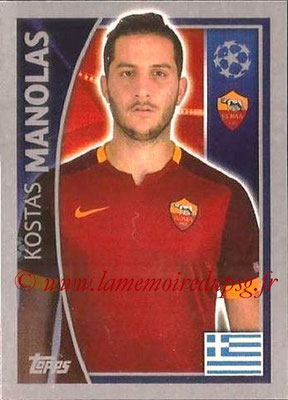 2015-16 - Topps UEFA Champions League Stickers - N° 340 - Kostas MANOLAS (AS Roma)
