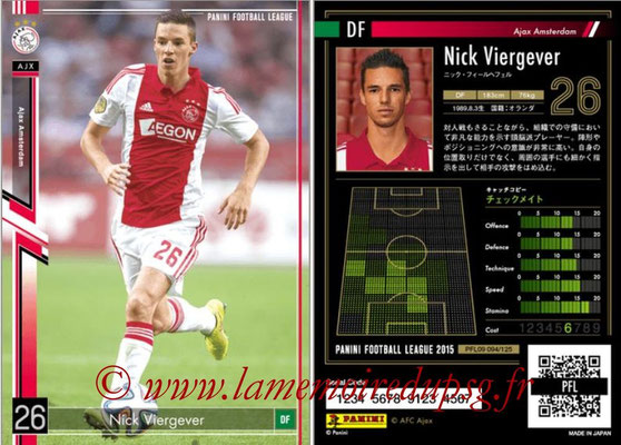 Panini Football League 2015 - PFL09 - N° 094 - Nick VIERGEVER (Ajax)