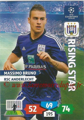 2013-14 - Adrenalyn XL champions League N° 045 - Massimo BRUNO (RSC Anderlecht) (Rising Star)