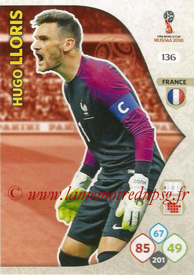2018 - Panini FIFA World Cup Russia Adrenalyn XL - N° 136 - Hugo LLORIS (France)