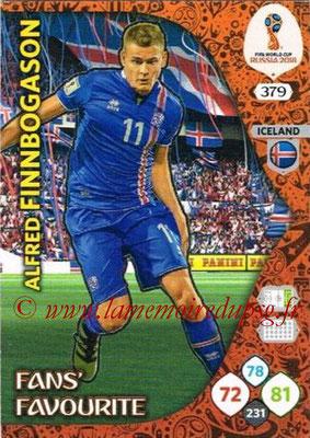 2018 - Panini FIFA World Cup Russia Adrenalyn XL - N° 379 - Alfred FINNBOGASON (Islande) (Fans' Favourite)