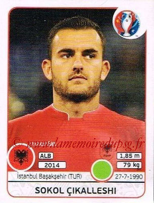 Panini Euro 2016 Stickers - N° 088 - Sokol CIKALLESHI (Albanie)