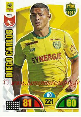 2018-19 - Panini Adrenalyn XL Ligue 1 - N° 201 - Diego CARLOS (Nantes)
