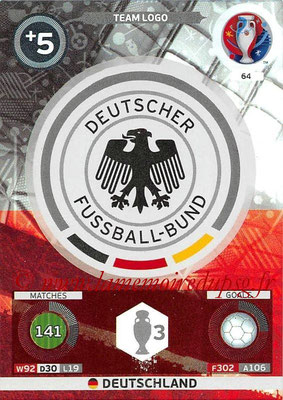 Panini Euro 2016 Cards - N° 064 - Logo Allemagne (Team Logo)
