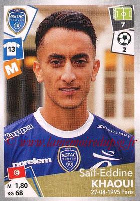 2017-18 - Panini Ligue 1 Stickers - N° 508 - Saîf-Eddine KHAOUI (Troyes)