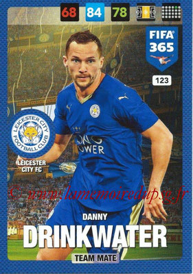 2016-17 - Panini Adrenalyn XL FIFA 365 - N° 123 - Danny DRINKWATER (Leicester City FC)