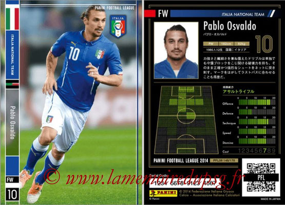 Panini Football League 2014 - PFL08 - N° 148 - Pablo OSVALDO (Italie)