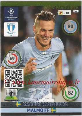 2014-15 - Adrenalyn XL champions League N° 269 - Markus ROSENBERG (Malmo FF) ( Fans' Favourite)