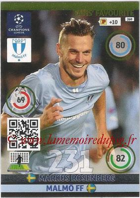 2014-15 - Adrenalyn XL champions League N° 269 - Markus ROSENBERG (Malmo FF) ( Fans' Favourite)