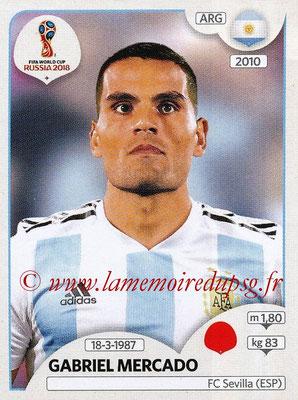 2018 - Panini FIFA World Cup Russia Stickers - N° 275 - Gabriel MERCADO (Argentine)