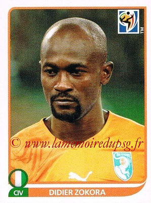 2010 - Panini FIFA World Cup South Africa Stickers - N° 535 - Didier ZOKORA (Côte d'Ivoire)