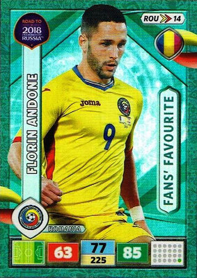 2018 - Panini Road to FIFA World Cup Russia Adrenalyn XL - N° ROU14 - Florian ANDONE (Roumanie) (Fans's Favourite)