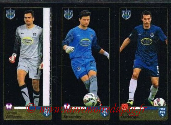 2015-16 - Panini FIFA 365 Stickers - N° 683-684-685 - Tamati WILLIAMS + Jacob SPOONLEY + Ángel BERLANGA (Auckland City FC)