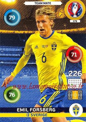 Panini Euro 2016 Cards - N° 379 - Emil FORSBERG (Suède)