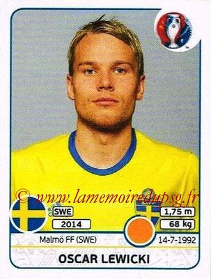 Panini Euro 2016 Stickers - N° 562 - Oscar LEWICKI (Suède)