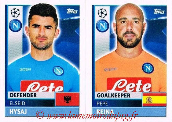 2016-17 - Topps UEFA Champions League Stickers - N° NAP 4-5 - Pepe REINA + Elseid HYSAJ (SSC Naples)