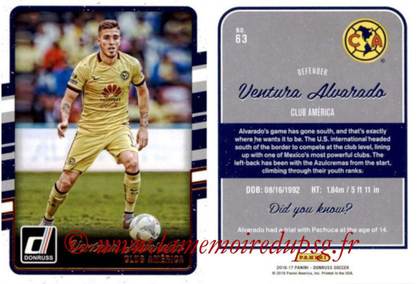 2016 - Panini Donruss Cards - N° 063 - Ventura ALVARADO (Club América)