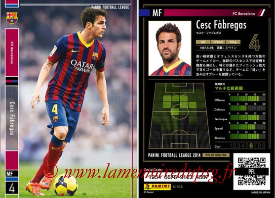 Panini Football League 2014 - PFL07 - N° 036 - Cesc FABREGAS (FC Barcelone)