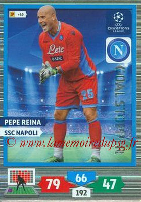 2013-14 - Adrenalyn XL champions League N° 329 - Pepe REINA (SSC Napoli) (Goal Stopper)