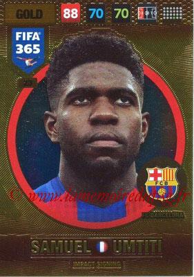2016-17 - Panini Adrenalyn XL FIFA 365 - N° 023 - Samuel UMTITI (FC Barcelone) (Impact Signing)