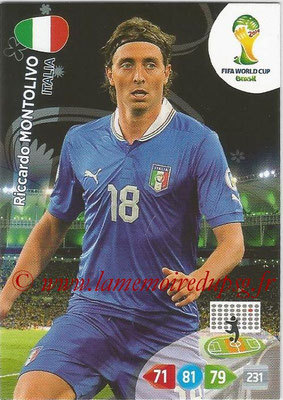 2014 - Panini FIFA World Cup Brazil Adrenalyn XL - N° 216 - Riccardo MONTOLIVO (Italie)