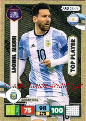 2018 - Panini Road to FIFA World Cup Russia Adrenalyn XL - N° ARG14 - Lionel MESSI (Argentine) (Top Player)