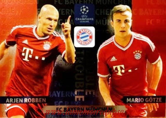 2013-14 - Adrenalyn XL champions League N° NE12 - Arjen ROBBEN + Mario GÖTZE (FC Bayern Munich) (Double trouble)