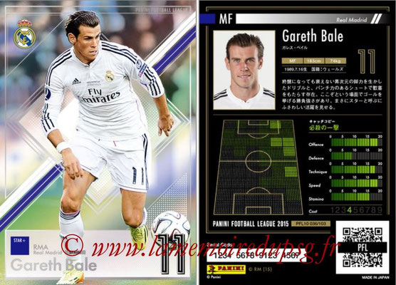 Panini Football League 2015 - PFL10 - N° 036 - Gareth BALE (Real Madrid) (Star +)
