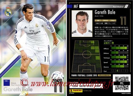 Panini Football League 2015 - PFL10 - N° 036 - Gareth BALE (Real Madrid) (Star +)