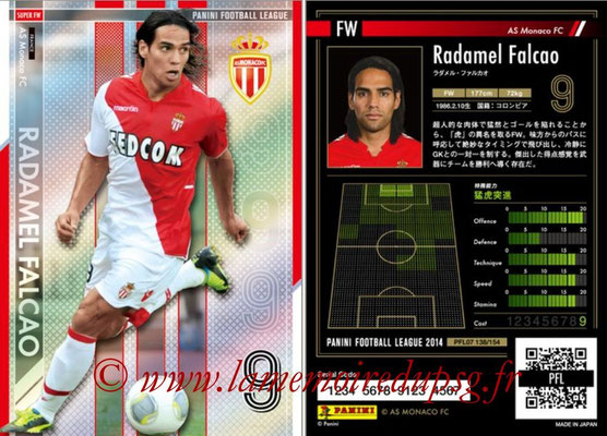 Panini Football League 2014 - PFL07 - N° 138 - Radamel FALCAO (AS Monaco) (Super FW)