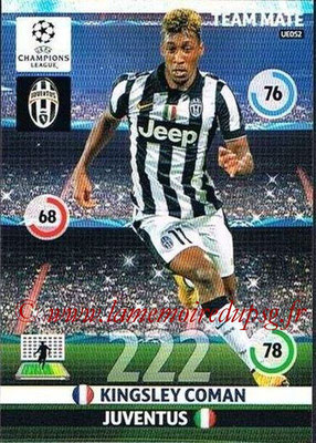 2014-15 - Adrenalyn XL champions League Update edition N° UE052 - Kingsley COMAN (Juventus FC)