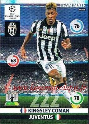 2014-15 - Adrenalyn XL champions League Update edition N° UE052 - Kingsley COMAN (Juventus FC)