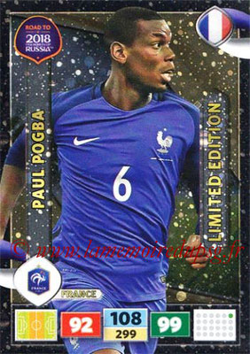 2018 - Panini Road to FIFA World Cup Russia Adrenalyn XL - N° LE-PP - Paul POGBA (France) (Limited Edition)