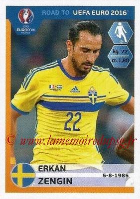 Panini Road to Euro 2016 Stickers - N° 348 - Erkan ZENGIN (Suède)