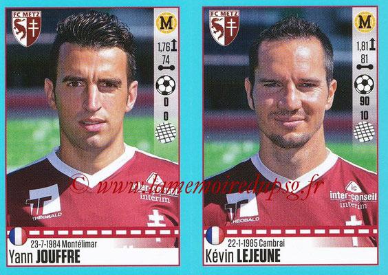 2016-17 - Panini Ligue 1 Stickers - N° 454 + 455 - Yan JOUFFRE + Kévin LEJEUNE (Metz)