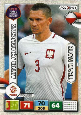 2018 - Panini Road to FIFA World Cup Russia Adrenalyn XL - N° POL04 - Artur JEDRZEJCZYK (Pologne)