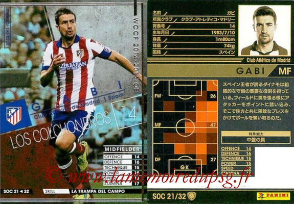2014-15 - WCCF - N° SOC21 - GABI (Club Atletico de Madrid) (Stars Of the Club)