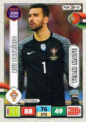 2018 - Panini Road to FIFA World Cup Russia Adrenalyn XL - N° POR01 - Rui PATRICIO (Portugal)