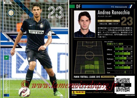 Panini Football League 2015 - PFL10 - N° 014 - Andrea RANOCCHIA (Inter) (Star)