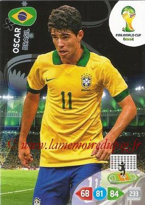 2014 - Panini FIFA World Cup Brazil Adrenalyn XL - N° 054 - OSCAR (Brésil)