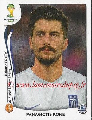 2014 - Panini FIFA World Cup Brazil Stickers - N° 216 - Panagiotis KONE (Grèce)