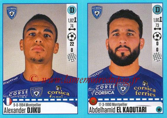 2016-17 - Panini Ligue 1 Stickers - N° 066 + 067 - Alexander DJIKU + Abdelhamid EL KAOUTARI (Bastia)
