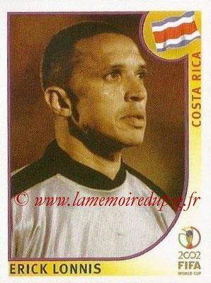 2002 - Panini FIFA World Cup Stickers - N° 225 - Erick LONNIS (Costa Rica)