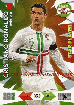 2014 - Panini Road to FIFA World Cup Brazil Adrenalyn XL - N° 156 - Cristiano RONALDO (Portugal) (Star Player)