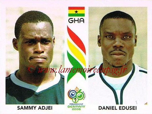 2006 - Panini FIFA World Cup Germany Stickers - N° 313 - Sammy ADJEI + Daniel EDUSEI (Ghana)