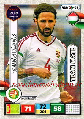 2018 - Panini Road to FIFA World Cup Russia Adrenalyn XL - N° HUN04 - Tamas KADAR (Hongrie)