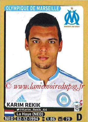 2015-16 - Panini Ligue 1 Stickers - N° 226 - Karim REKIK (Olympique de Marseille)